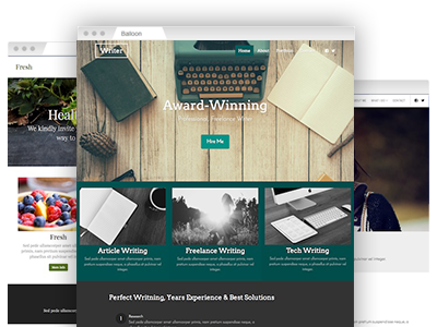A collection of easy–to–customize website templates